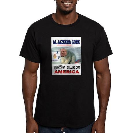 AL JAZEERA GORE Men's Fitted T-Shirt (dark)