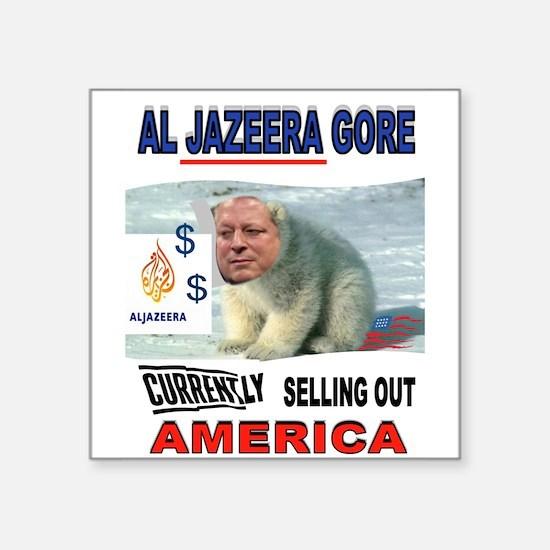 "AL JAZEERA GORE Square Sticker 3"" x 3"""