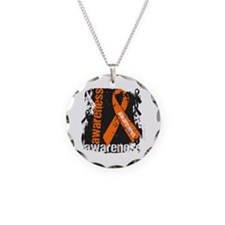 Multiple Sclerosis Awareness Necklace Circle Charm