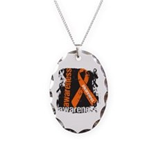 Multiple Sclerosis Awareness Necklace Oval Charm