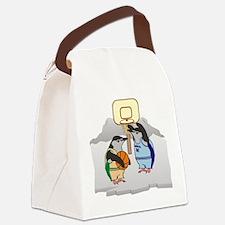 Penguin Basketball Canvas Lunch Bag