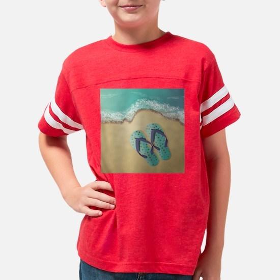 Flip Flops Youth Football Shirt