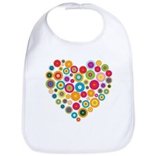 Concentric Circles Heart Bib