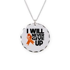 Never Give Up Multiple Sclerosis Necklace Circle C