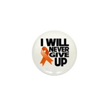 Never Give Up Multiple Sclerosis Mini Button (10 p