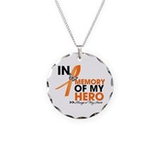 In Memory Hero Multiple Sclerosis Necklace Circle