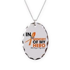 In Memory Hero Multiple Sclerosis Necklace Oval Ch