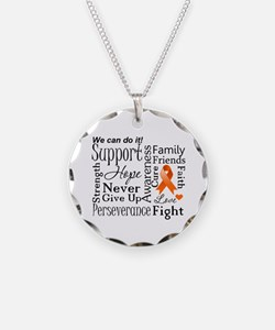 Multiple Sclerosis Support Necklace Circle Charm