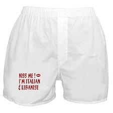 Kiss Me: Lebanese & Italian Boxer Shorts