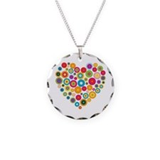 Concentric Circles Heart Necklace