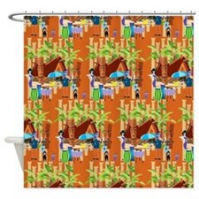 Tiki Time Shower Curtain