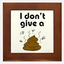 I Don't Give a Poop Framed Tile