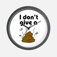 I Don't Give a Poop Wall Clock