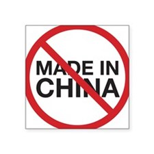 Not Made in China Rectangle Sticker
