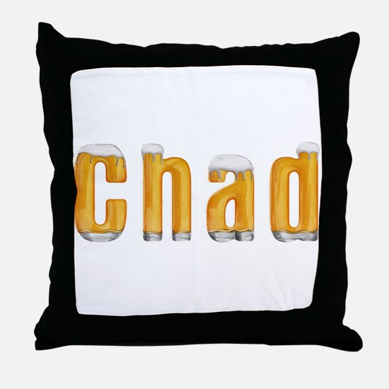 Chad Beer Throw Pillow