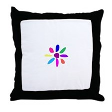 The Simplest Flower 4 Throw Pillow