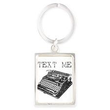 Typewriter Portrait Keychain