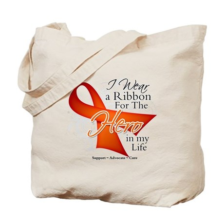Hero in My Life Multiple Sclerosis Tote Bag
