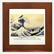 Penguin Wave Framed Tile