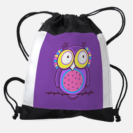 Colorful Owl Drawstring Bag
