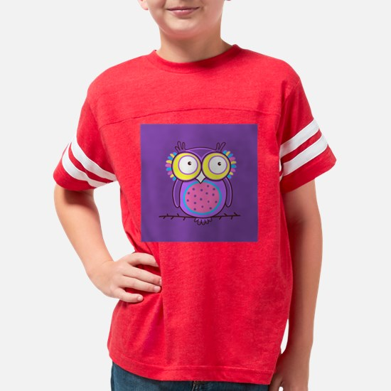 Colorful Owl Youth Football Shirt