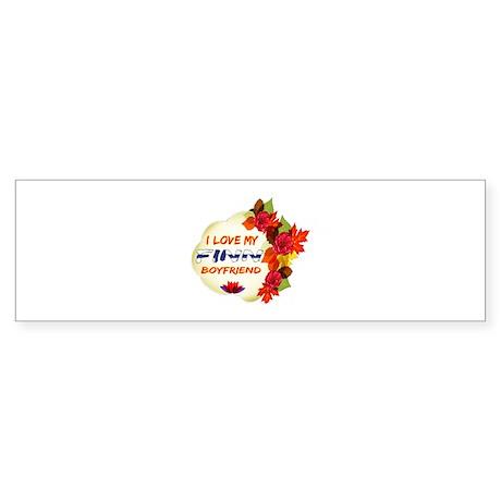 Finnish Boyfriend designs Sticker (Bumper)