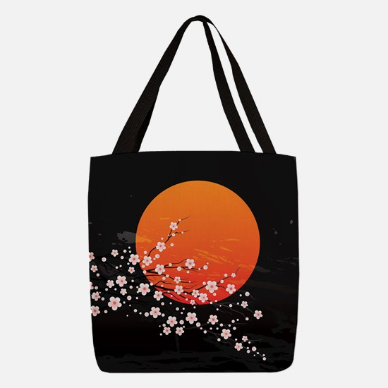 Asian Night Polyester Tote Bag