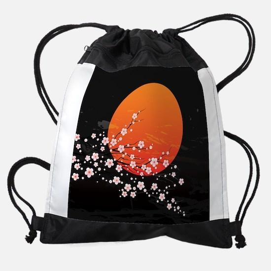 Asian Night Drawstring Bag