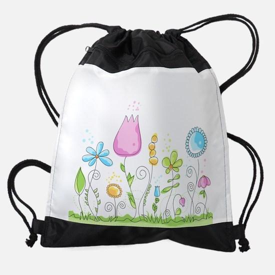 Spring Flowers Drawstring Bag