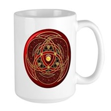 Celtic Medallion - Red Mug