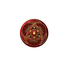 Celtic Medallion - Red Mini Button (100 pack)