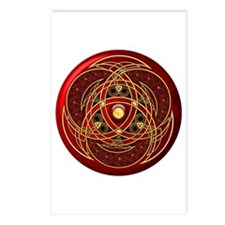 Celtic Medallion - Red Postcards (Package of 8)