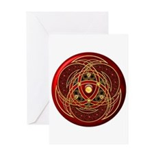 Celtic Medallion - Red Greeting Card