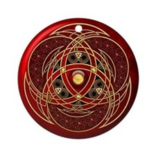 Celtic Medallion - Red Ornament (Round)