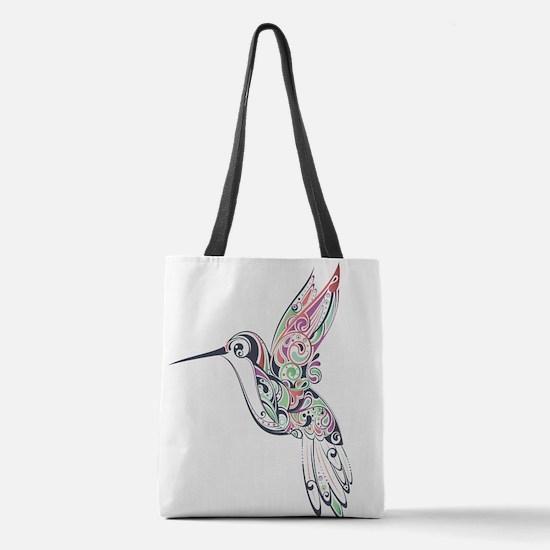 Hummingbird Polyester Tote Bag