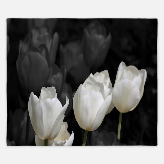 White Tulip King Duvet