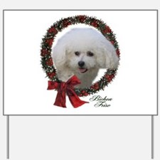 Bichon Frise Christmas Yard Sign