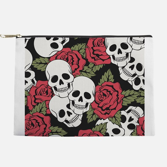 Skulls and Roses Makeup Pouch