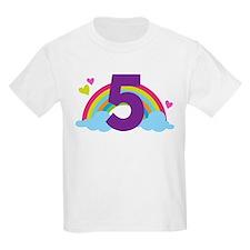 5th Birthday Rainbow T-Shirt
