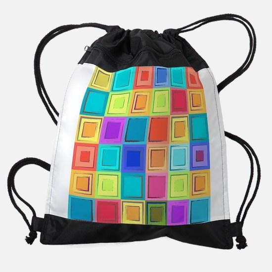 Colorful Retro Drawstring Bag