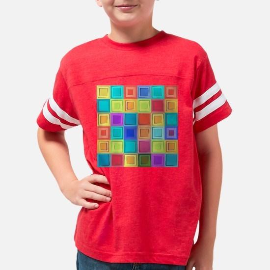 Colorful Retro Youth Football Shirt