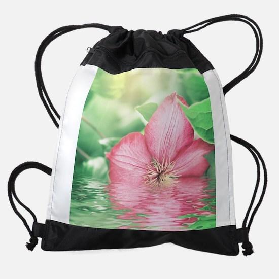 Water Flower Drawstring Bag