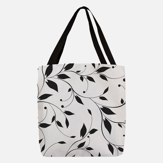 Elegant Leaves Polyester Tote Bag