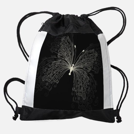 Elegant Butterfly Drawstring Bag