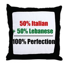 Half Italian, Half Lebanese Throw Pillow