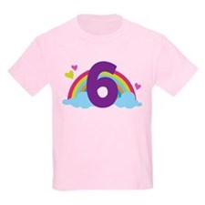 Rainbow 6th Birthday T-Shirt