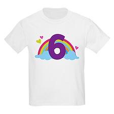 Rainbow 6th Birthday T-Shirt