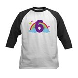 6th birthday rainbow Baseball Jersey