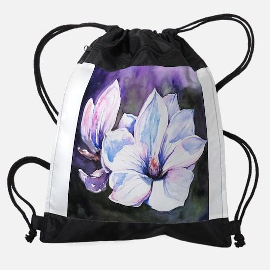 Magnolia Painting Drawstring Bag