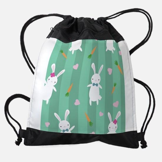 Cute Rabbits Drawstring Bag